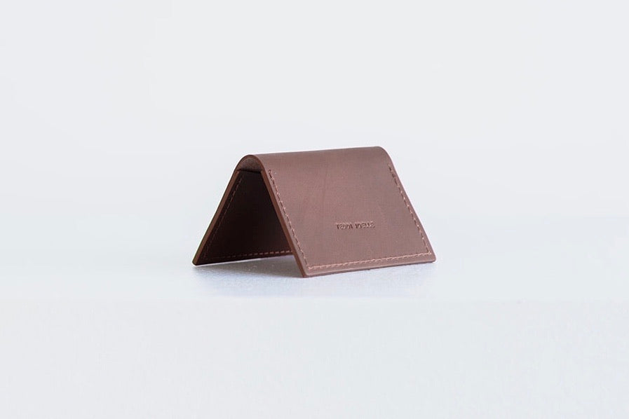FOLDING POCKET WALLET - BROWN