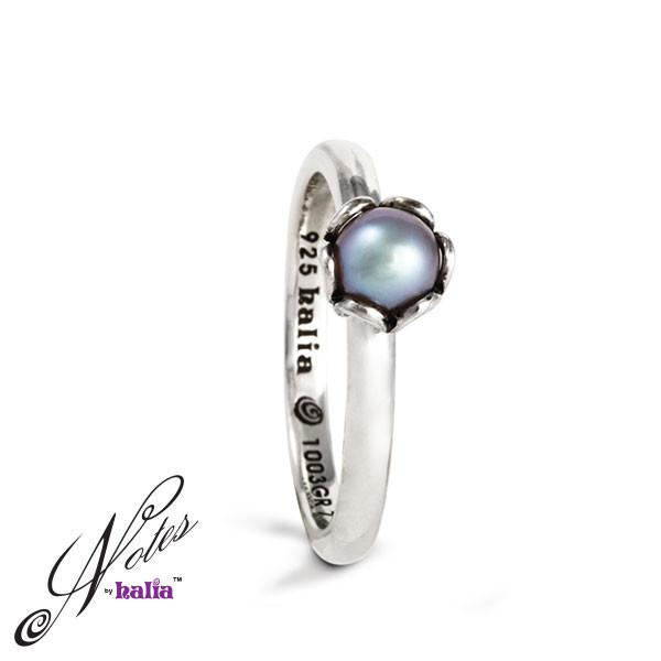 Grey Fresh Water Pearl Deep Waters Pearl Stacking Ring Sterling Silver Notes by Halia