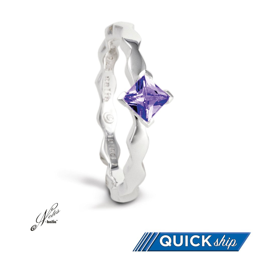 Fancy Fierce Stacking Ring - Amethyst, Blue Topaz, Classic Cubic