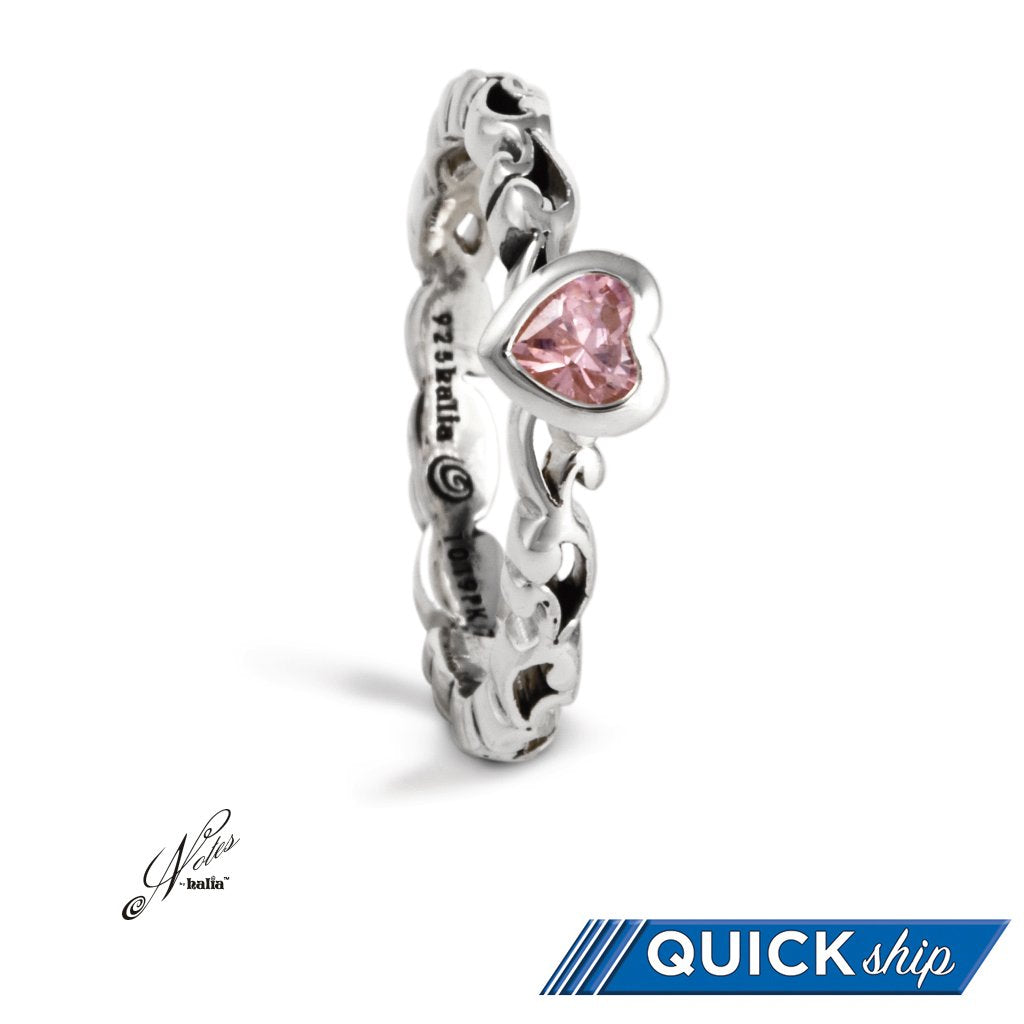 Heart's Desire Stacking Ring