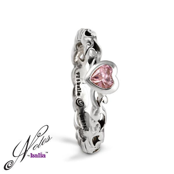Heart's Desire Stacking Ring - Garnet, Pink Cubic, Classic Clubic - Metalsmiths Sterling™ Canada