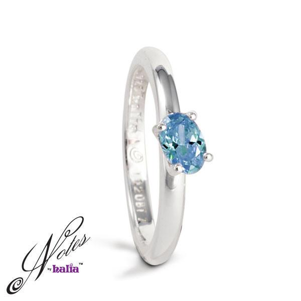 Blue Topaz Delish Stacking Ring Sterling Silver Notes by Halia