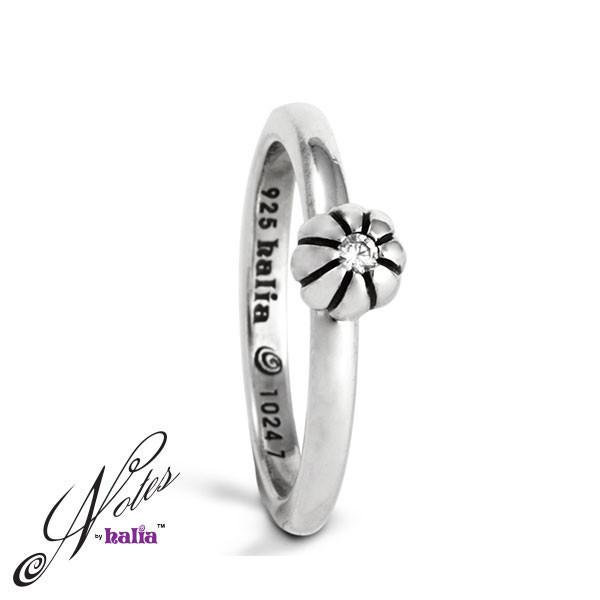 Cubic Build Me Up Buttercup Stacking Ring Sterling Silver Notes by Halia