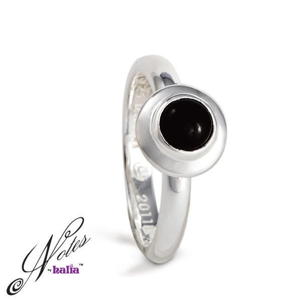 Round & Round Stacking Ring - Black Onyx, Pearl - Metalsmiths Sterling™ Canada