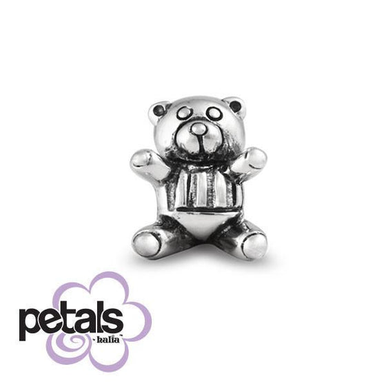 Teddy Bear Picnic -  Petals Sterling Silver Charm