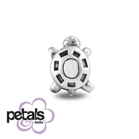 Tiny Turtle -  Petals Sterling Silver Charm
