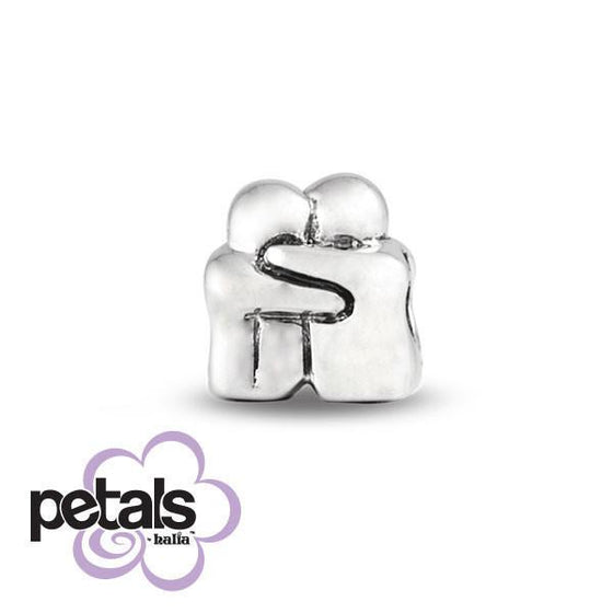 Love You Forever -  Petals Sterling Silver Charm