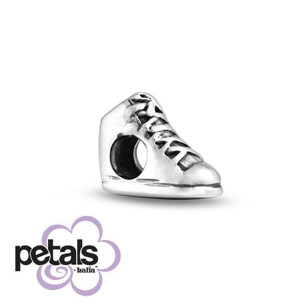 Laced Up Tight -  Petals Sterling Silver Charm