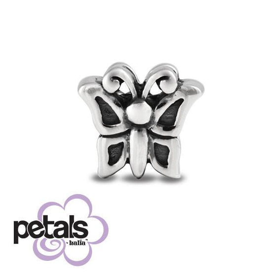 Flutterby -  Petals Sterling Silver Charm