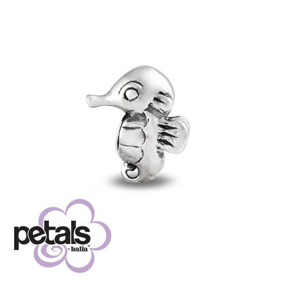 Silly Seahorse -  Petals Sterling Silver Charm