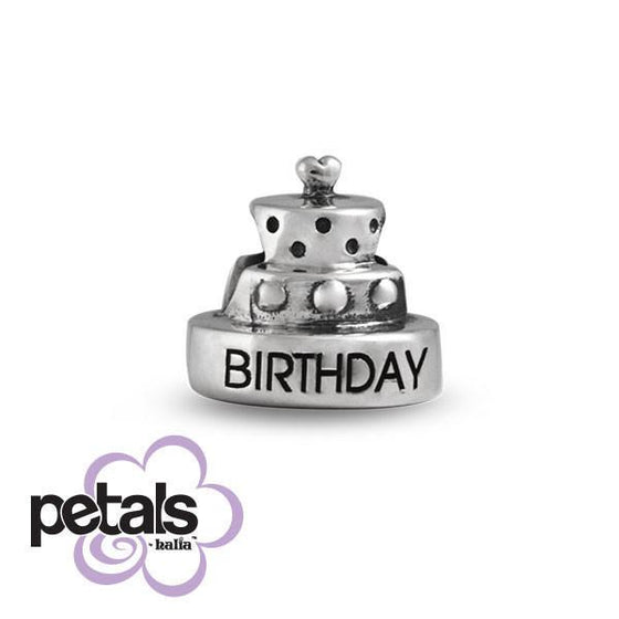 Bestest Birthday -  Petals Sterling Silver Charm