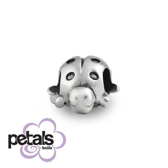 Lazy Ladybug -  Petals Sterling Silver Charm