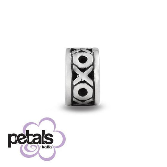 Hugs & Kisses Forever -  Petals Sterling Silver Charm