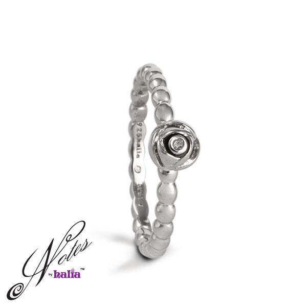Rosy Future Diamond Stacking Ring - Metalsmiths Sterling™ Canada