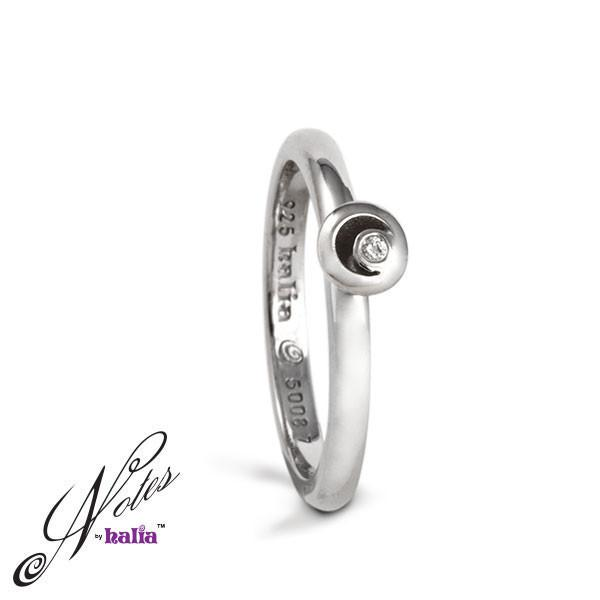 Twilight Promise Diamond Stacking Ring - Metalsmiths Sterling™ Canada