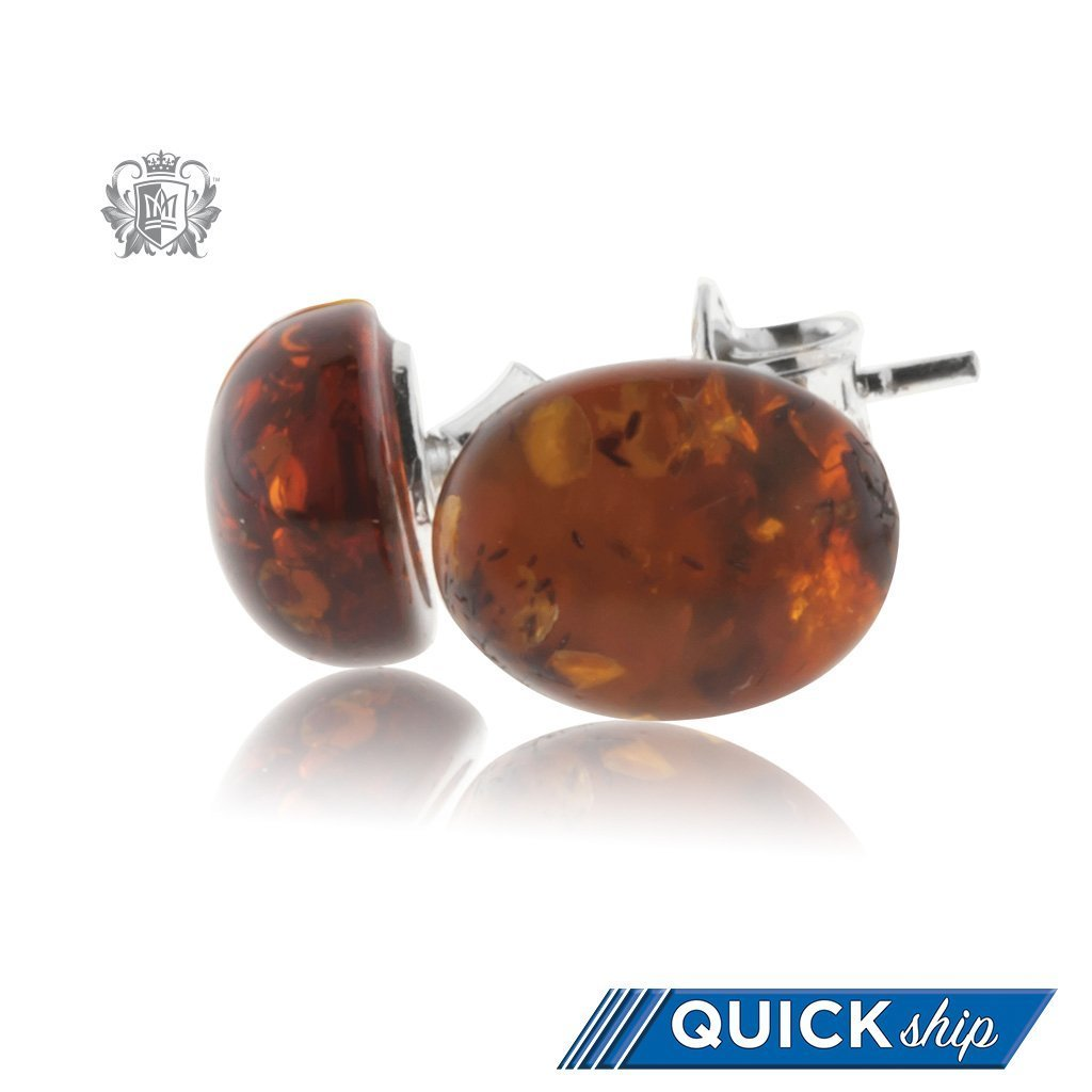 a7c11aaad Amber Stud Earrings - Quick Ship - Metalsmiths Sterling™ US