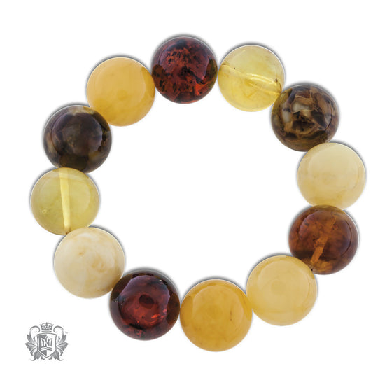 Metalsmiths Sterling Wrapped  Amber Bracelet