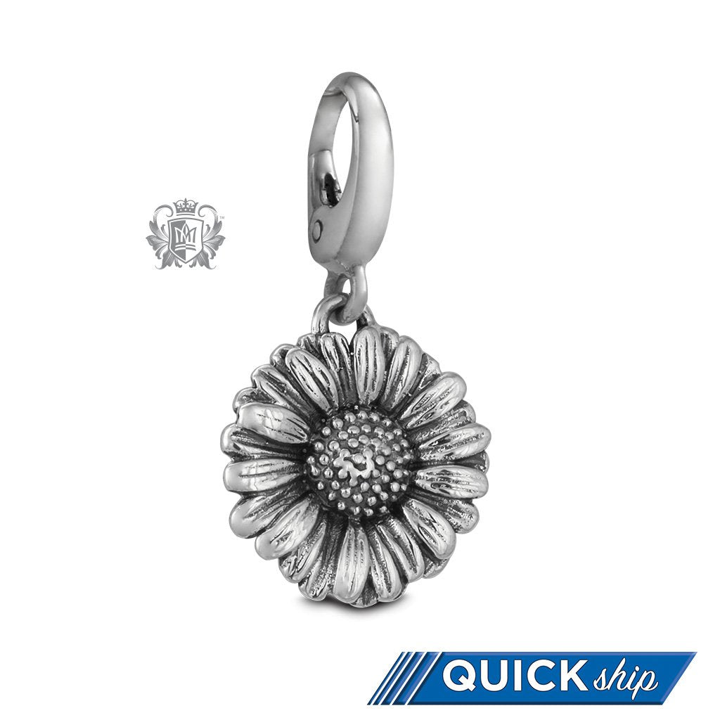Quick Ship Daisy Flower Charm -  Charm