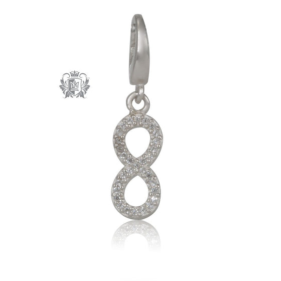 Sparkling Infinity Charm - Metalsmiths Sterling Silver