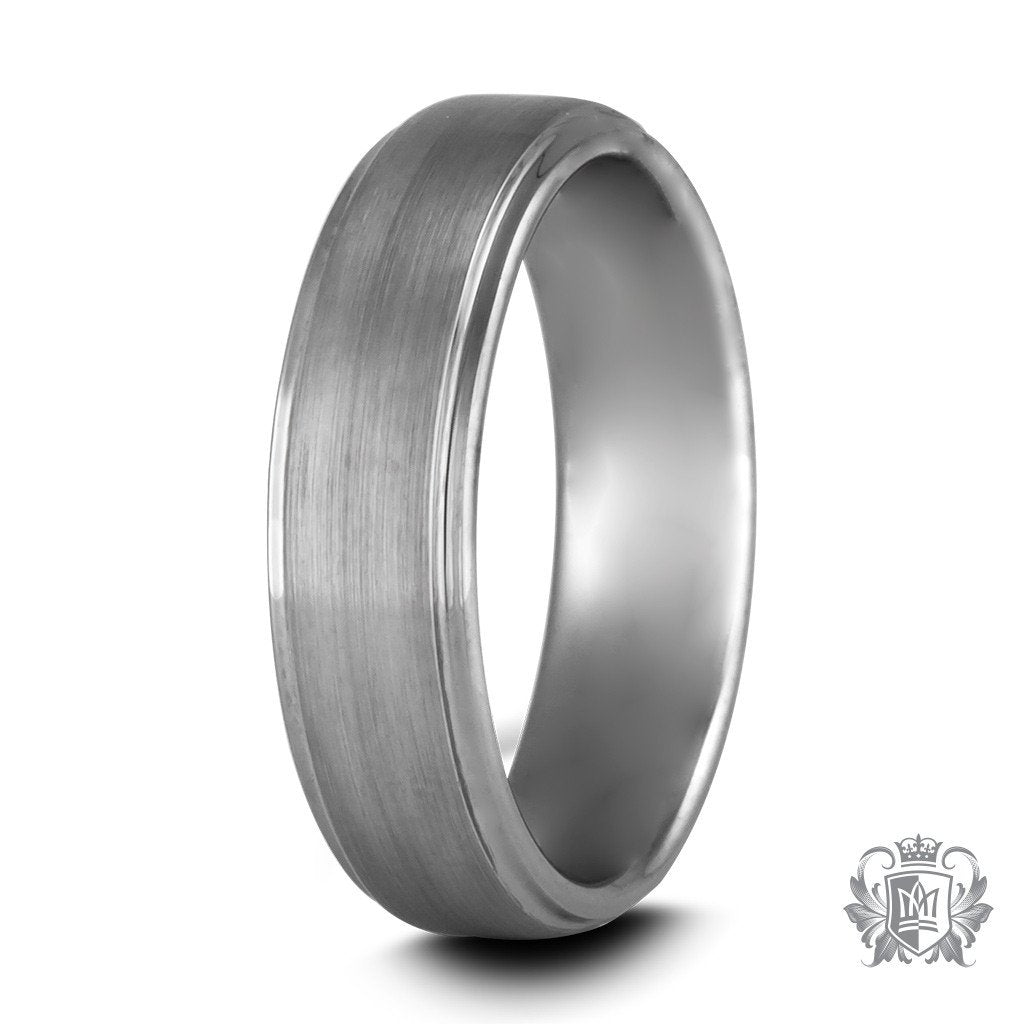 Metalsmiths Sterling Tungsten Dual Texture Band Ring