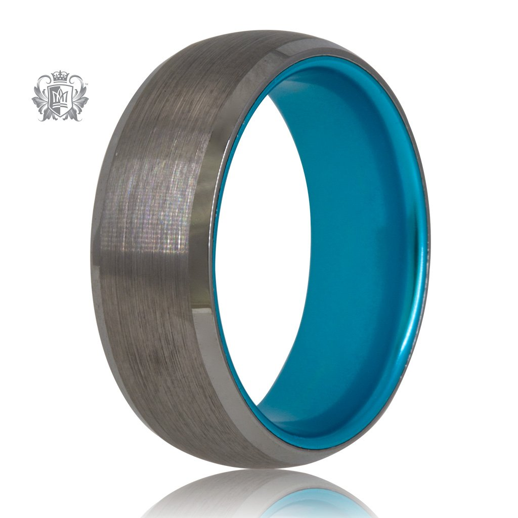 Grey/Blue Tungsten Bright Inside Band - SAMPLE