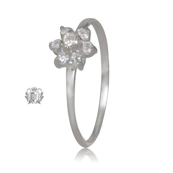 Flower Cubic Cluster Ring Metalsmiths Sterling Silver
