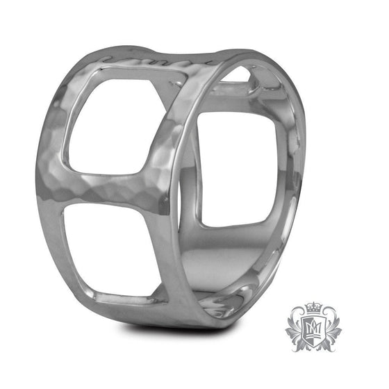 Hammered Square Cut Ring - Metalsmiths Sterling™ Canada