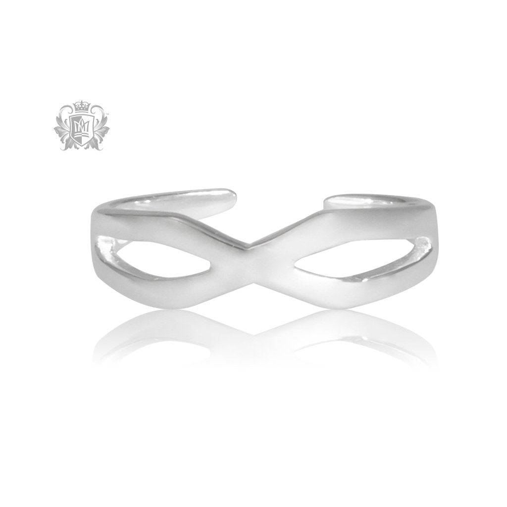 Metalsmiths Sterling Silver Crossover Toe Ring