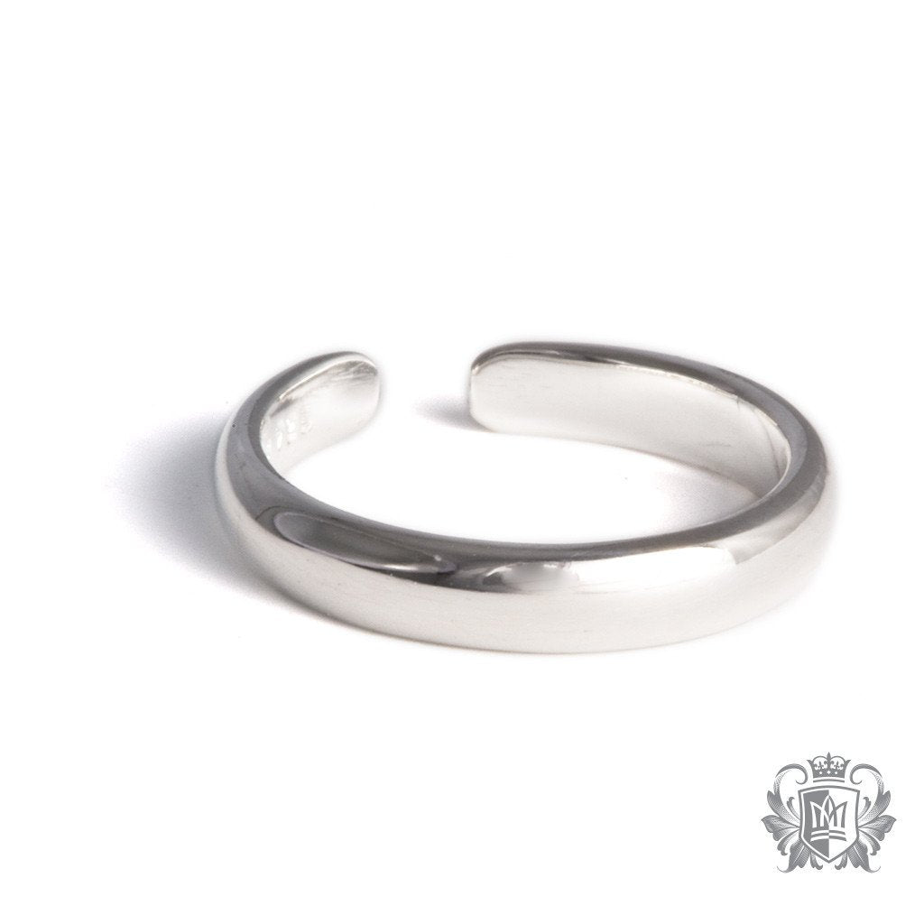 Metalsmiths Sterling Silver Half Round Toe Ring