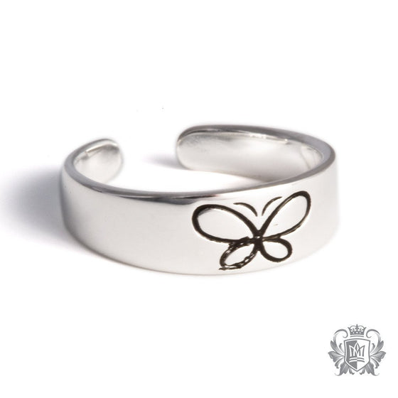 Metalsmiths Sterling Silver Butterfly Toe Ring