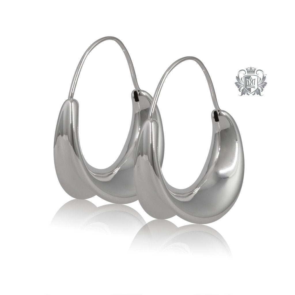 Organic Flair Hoop Earrings