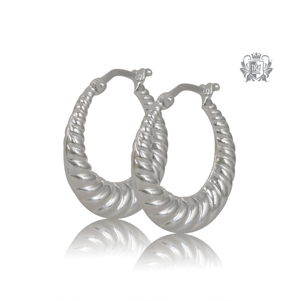 Tapered Twist Hoop Earrings - Large