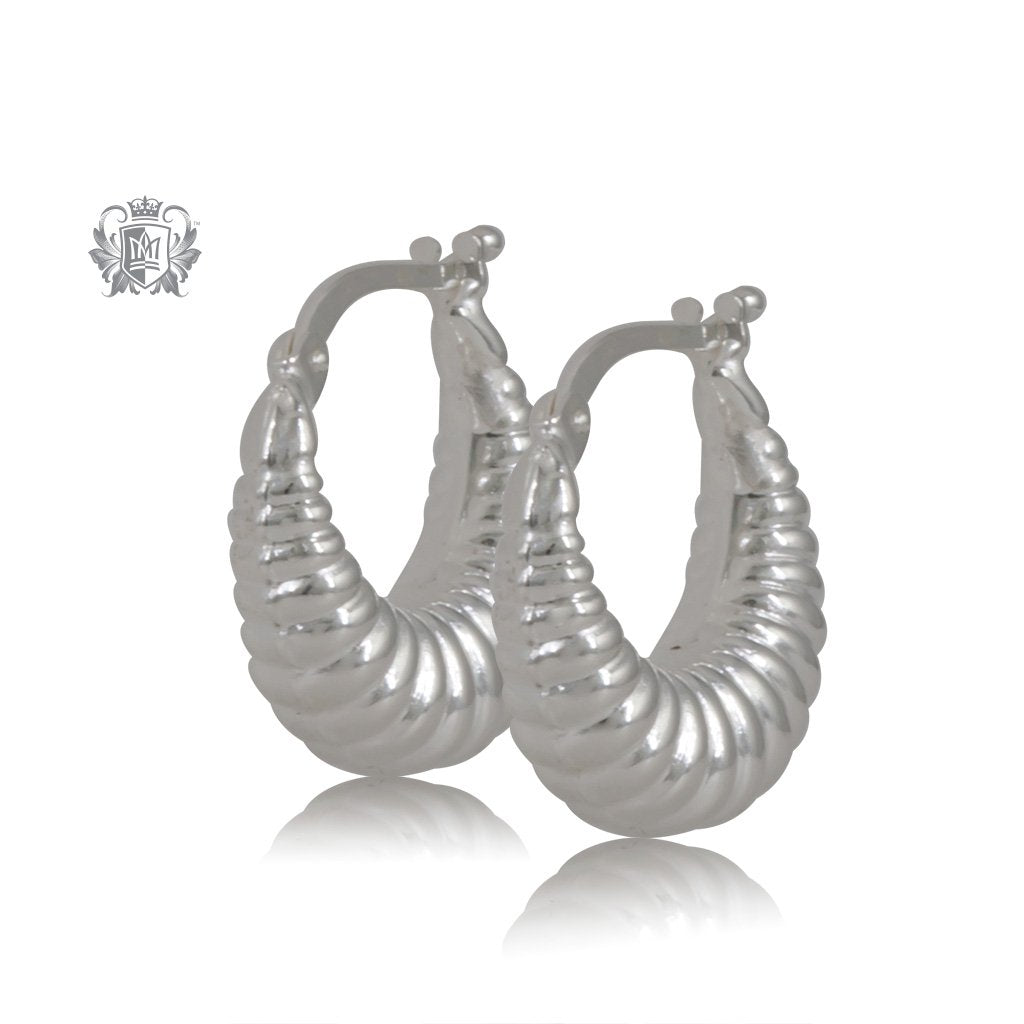 Tapered Twist Hoop Earrings - Small
