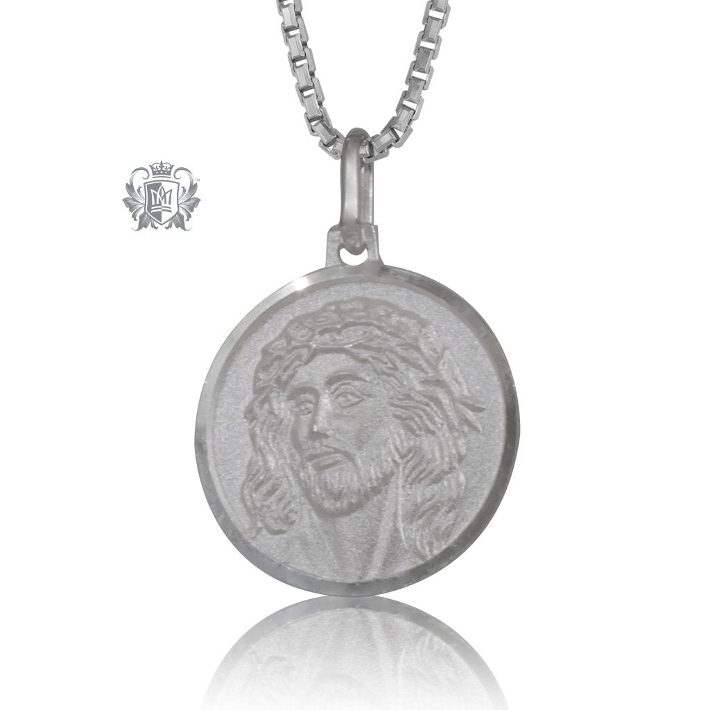 Jesus Medallion with Chain (not included)