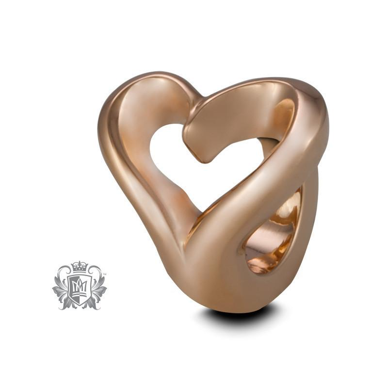 Heart Embrace Charm - Rose gold dipped sterling silver Embrace Charm - 1