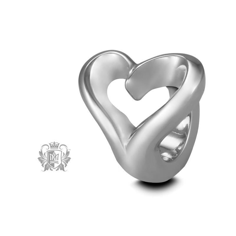 Heart Embrace Charm - Sterling silver Embrace Charm - 2