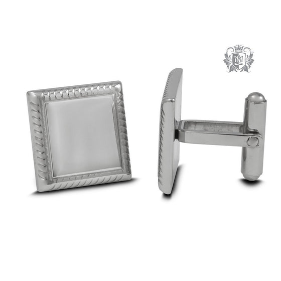 Stainless Steel Square Edged Cufflinks -  Cufflinks