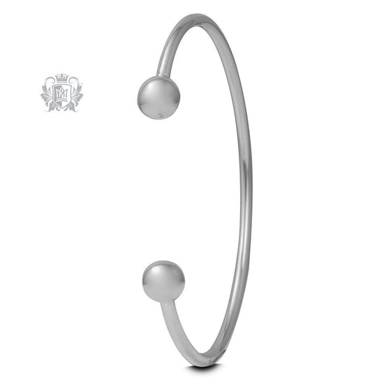 Small Spheres Cuff Bangle - Metalsmiths Sterling™ Canada