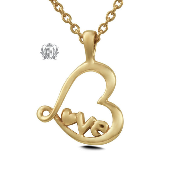 Gold Dipped Love Pendant (Special Edition) - Metalsmiths Sterling™ Canada
