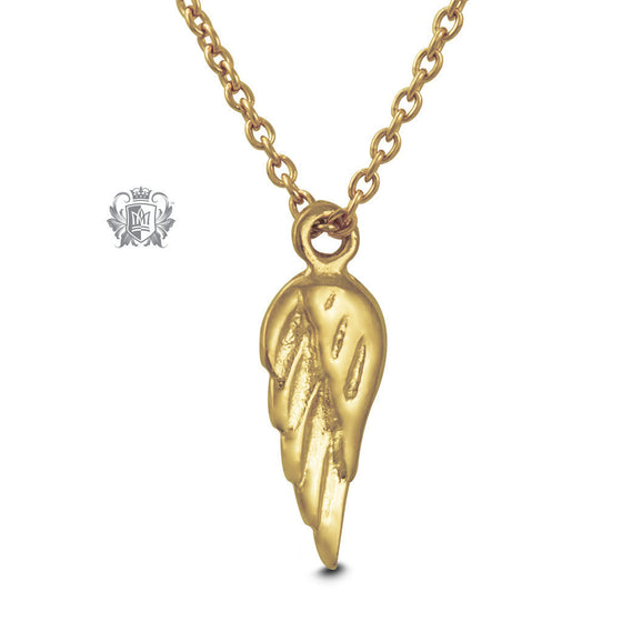 Gold Dipped Angel Wing Pendant (Special Edition) -  Necklaces - 1