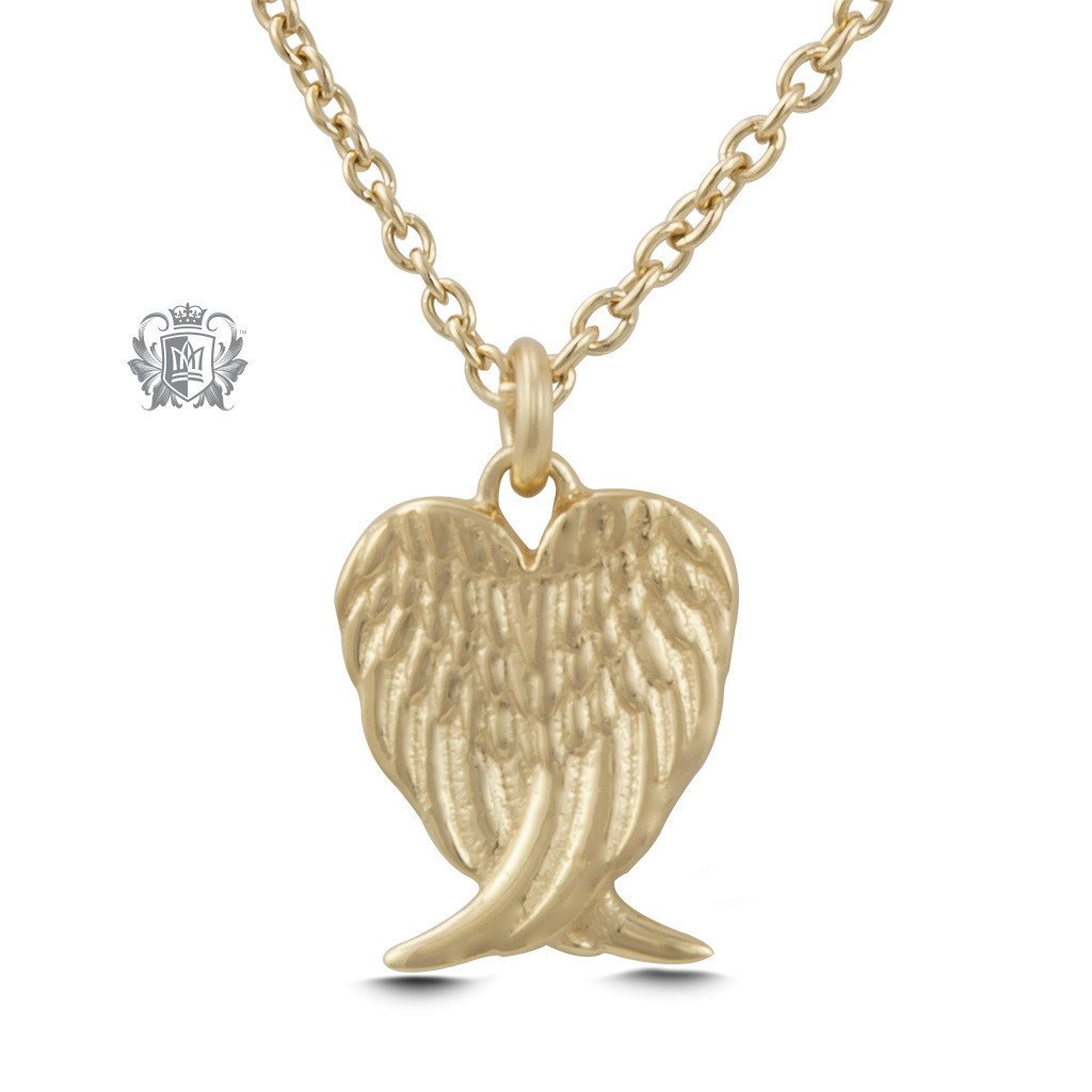 gold misgraceful style from wings angel and necklace diamond diamante pendant vintage crystal in