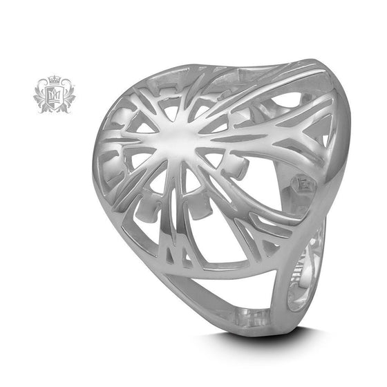 Retro Offset Star Ring - Metalsmiths Sterling™ Canada