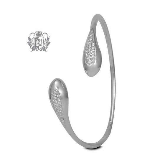 Pavé Drop Bypass Bangle - Metalsmiths Sterling™ Canada