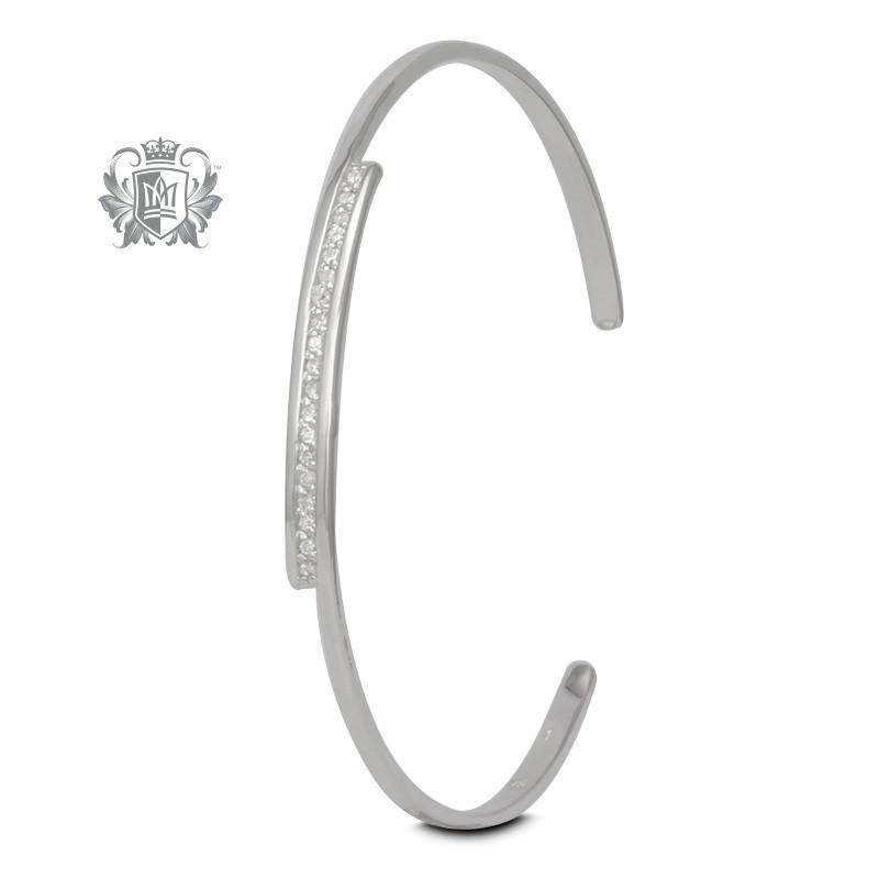 Squared Bypass Cuff Bangle - Metalsmiths Sterling™ Canada