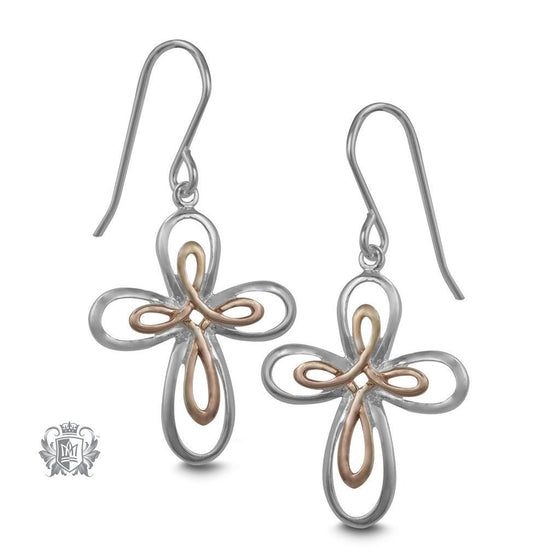 Celtic Cross Hanger Earrings - Metalsmiths Sterling™ Canada
