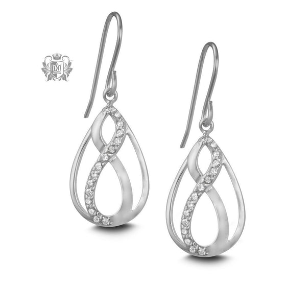 Eternal Cubic Hanger Earrings - Metalsmiths Sterling™ Canada