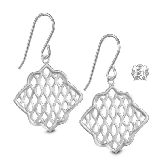 Be Square Hanger Earrings -  Earrings