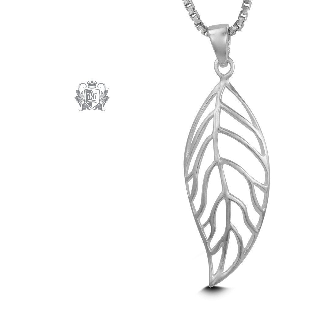 Freeform Leaf Pendant - 18 inch chain Pendants - 1