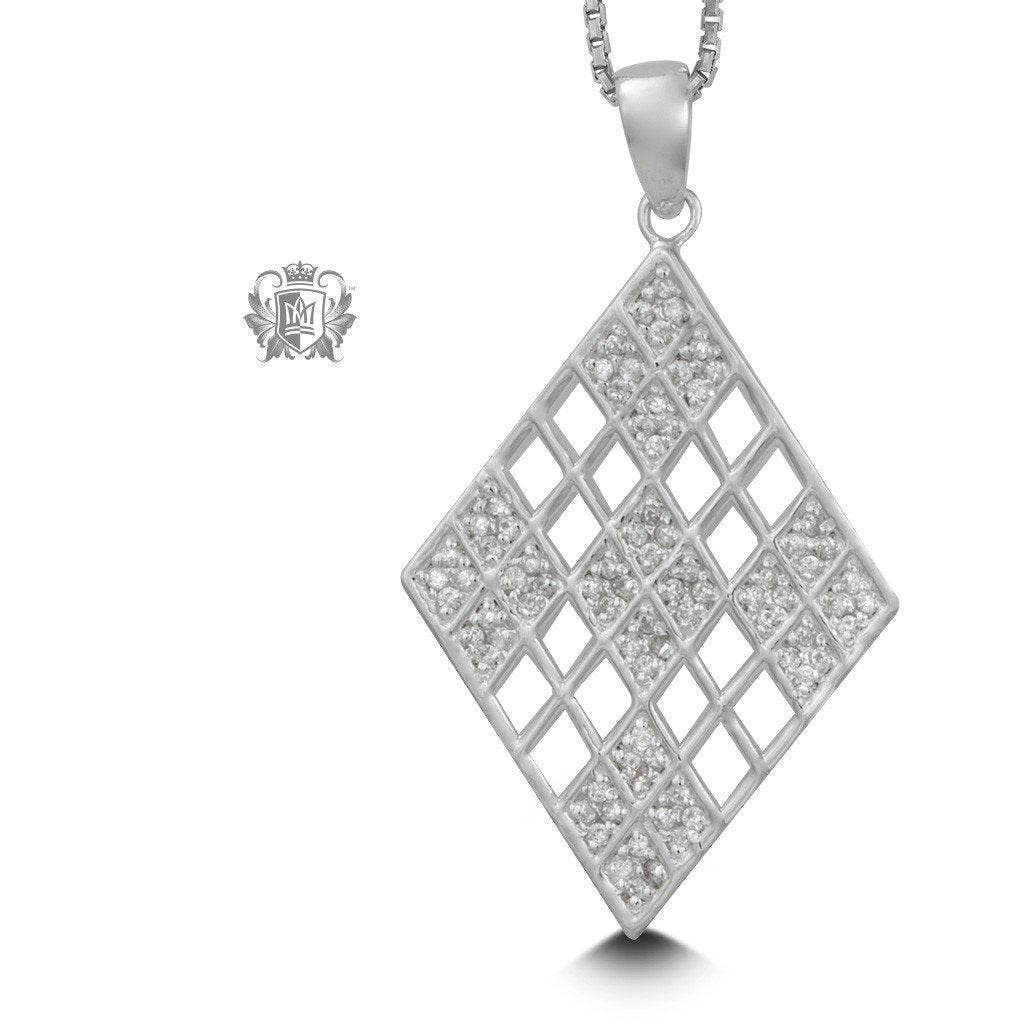 Sparkling Geometry Pendant - 18 inch chain Gemstone Pendants - 1