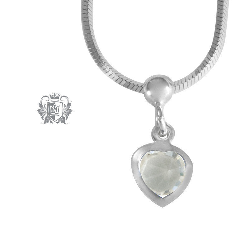 Cubic Heart Charm Anklet - Clear cubic Anklet - 2
